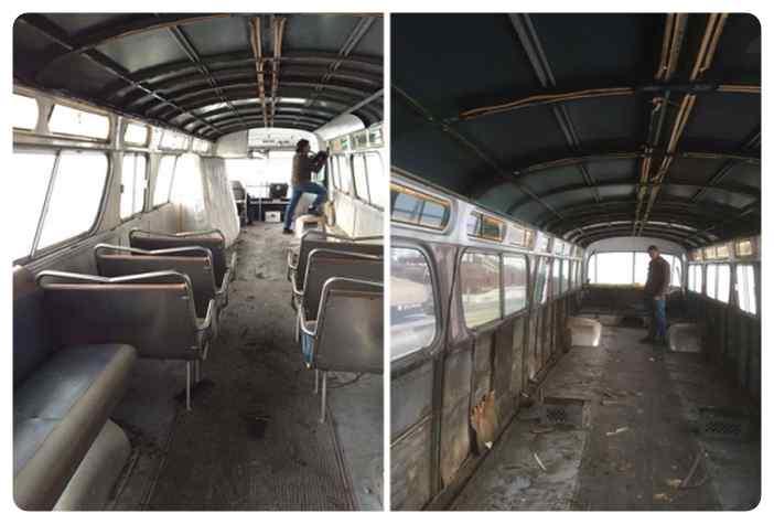 Convierte un viejo autobús de un desguace en una casa de lujo. 2
