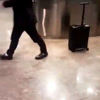 Si estas cansado de arrastras una maleta, compra esta maleta que te sigue a todas partes.
