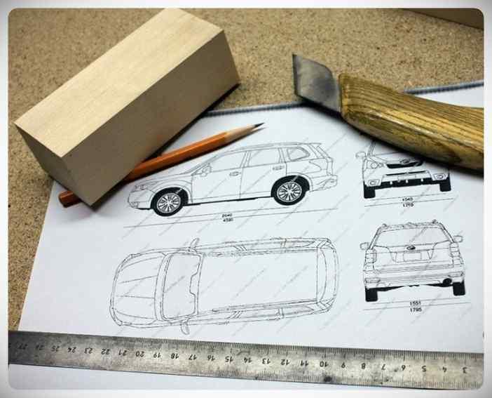 Fabricar un coche con un trozo de madera. 5