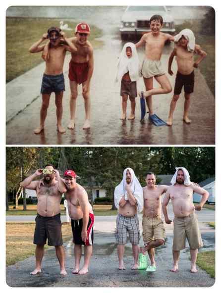 Como pasa el tiempo, fotos de antes y de ahora. 3