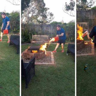 Cuando incendias la casa de tus padres por torpe e imprudente.