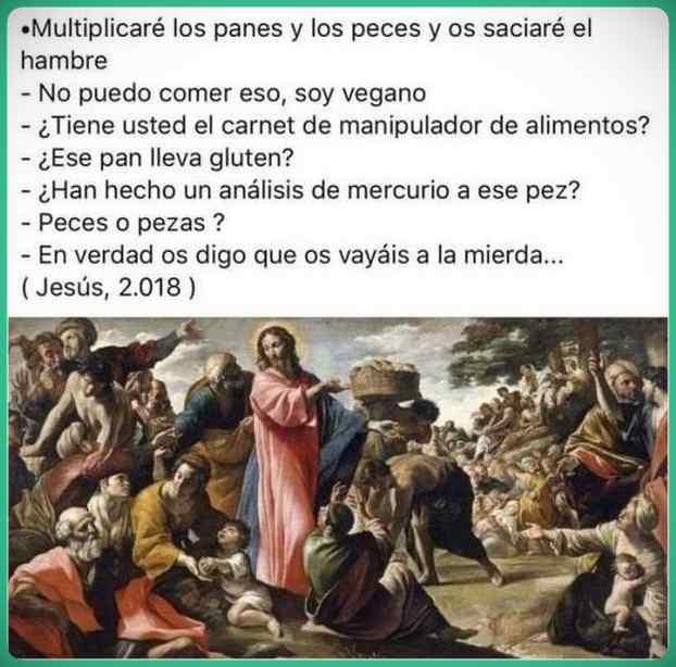 Si Jesús tuviera que repetir en nuestros tiempo el milagro de los panes y los peces. 1