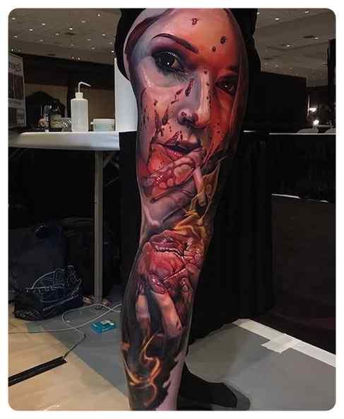 Increíbles tatuajes, son obras de arte sobre la piel. 8