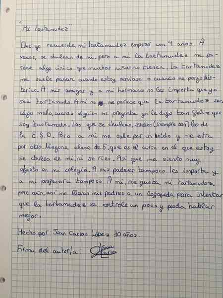 leccion de un chaval 01 1 - Mi tartamudez, la carta de un niño que nos da una lección a todos.