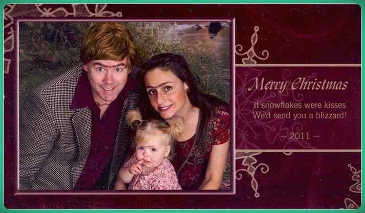 Esta familia lleva años enviando Felicitaciones de Navidad muy frikis a sus amigos y familiares. 10