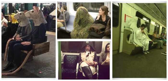 La cantidad de gente rara que viaja en el metro. 2
