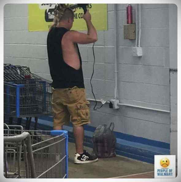 Gente rara en el supermercado, galería de imágenes. 6