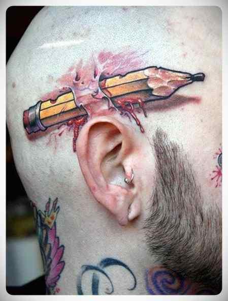 Increíbles tatuajes en 3D. 3