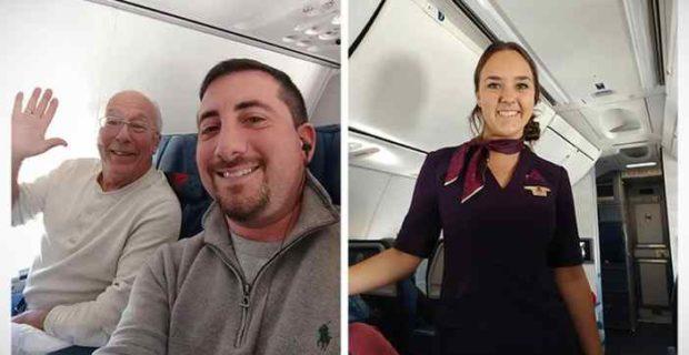 padre vuela navidad hija 02 620x320 - Este padre compra 6 billetes de avión para pasar la Navidad junto a su hija que es Azafata.
