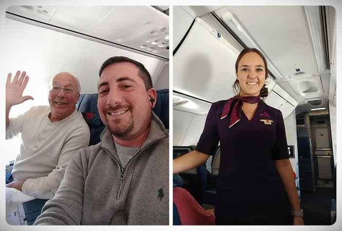 Este padre compra 6 billetes de avión para pasar la Navidad junto a su hija que es Azafata. 1