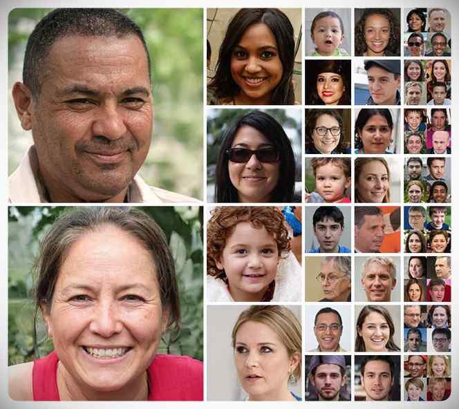 La inteligencia artificial crea fotos de personas que no existen. 17