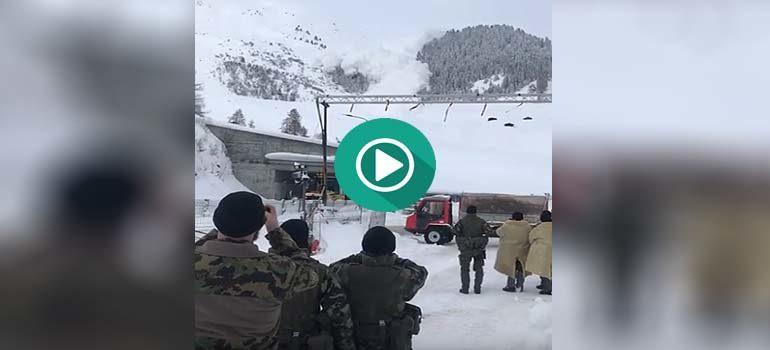Los peligros de grabar una avalancha de nieve. 1