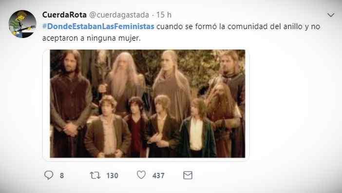 Es trending topic: #DondeEstabanLasFeministas 9