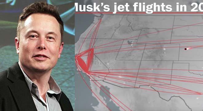 Los viajes de Elon Musk en su Jet privado durante el 2018. 1