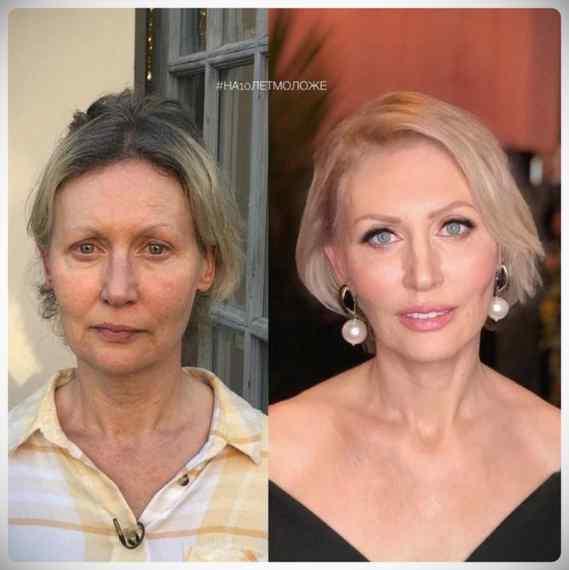 Imágenes de maquillaje profesional, antes y después. 14