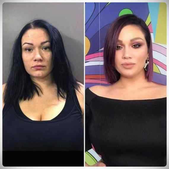 Imágenes de maquillaje profesional, antes y después. 4