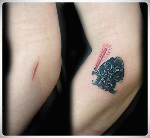 Imágenes de tatuajes usados para tapar cicatrices. 6