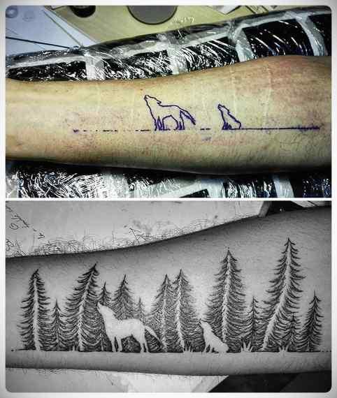 Imágenes de tatuajes usados para tapar cicatrices. 10
