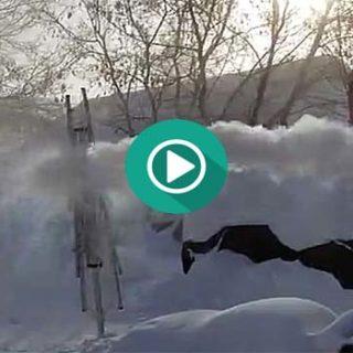 Disparando una pistola de agua a 38 grados bajo cero.
