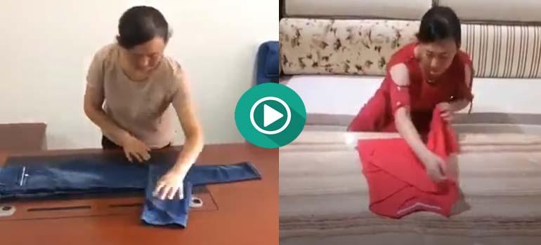 Aprende a doblar la ropa con este vídeo tan didáctico. 3