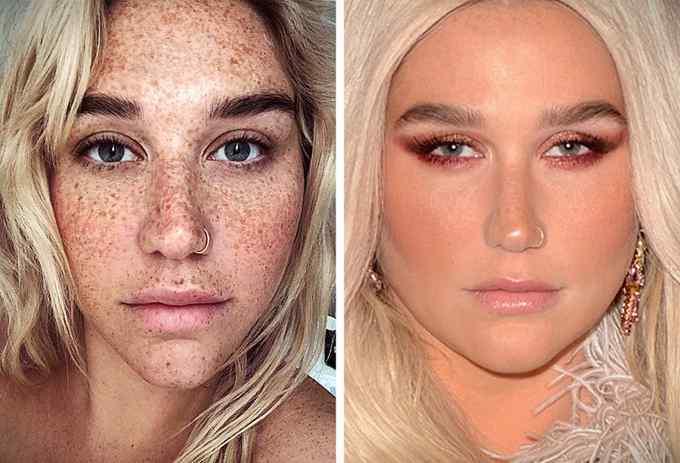 Impresionantes fotos de 10 famosas sin maquillar. 8