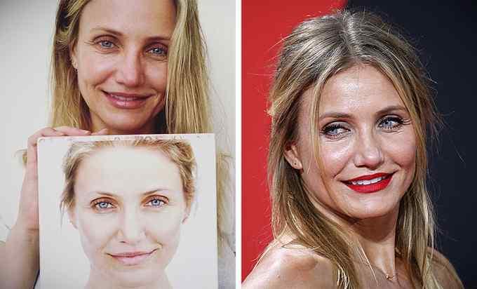 Impresionantes fotos de 10 famosas sin maquillar. 10