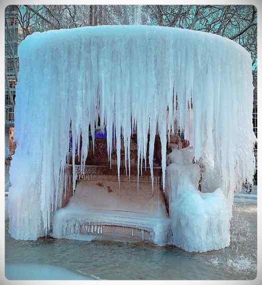 Sorprendentes imágenes de la ola de frió en Estados Unidos. 8