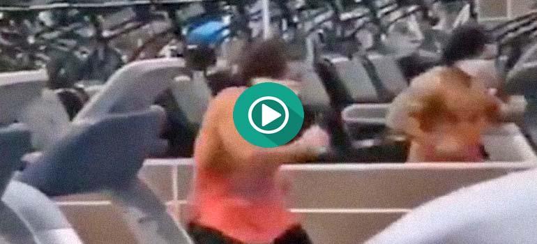 Extraño entrenamiento en el gimnasio. 14