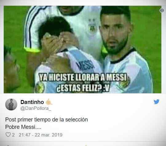 Los memes de Messi por la derrota de Argentina contra Venezuela. 1