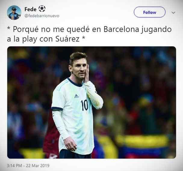 Los memes de Messi por la derrota de Argentina contra Venezuela. 7