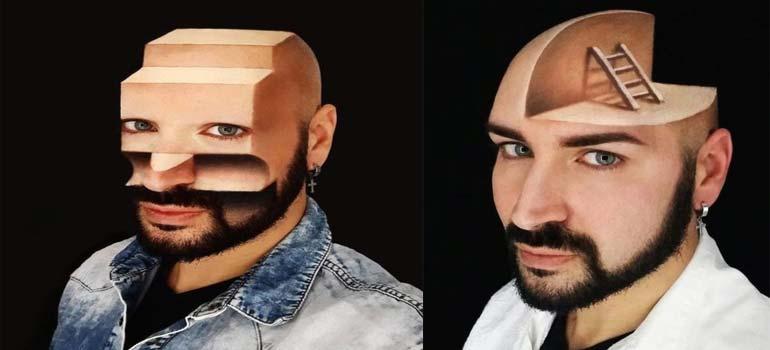 Espectacular maquillaje en 3D de la mano de Luca Luce. 2