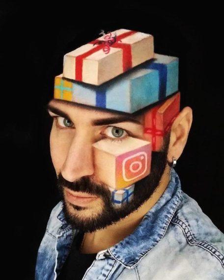 Espectacular maquillaje en 3D de la mano de Luca Luce. 3