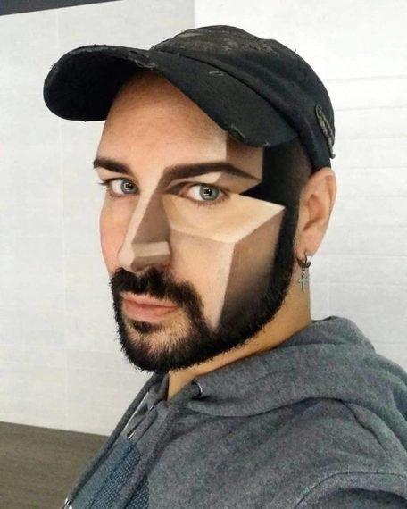 Espectacular maquillaje en 3D de la mano de Luca Luce. 5