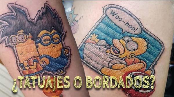 Espectaculares tatuajes que parece auténticos bordados. 4