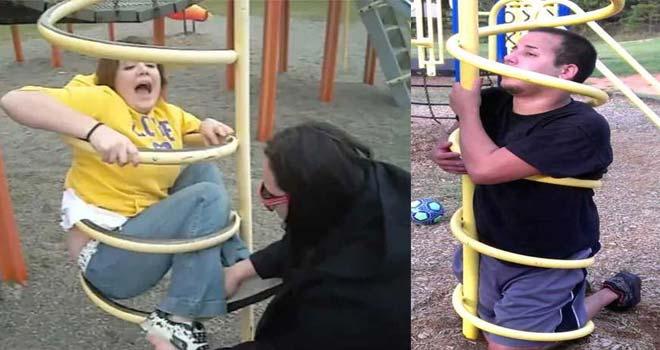 Adultos atrapados en columpios infantiles. La galería de fotos definitiva. 1