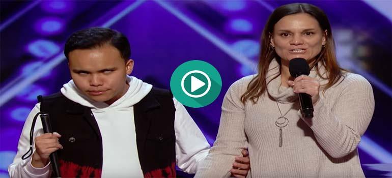 Un joven ciego y con autismo pone en pie al jurado de Got Talent.