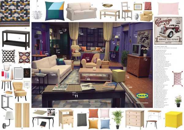 Los salones de tus series favoritas en el catalogo de Ikea. 9