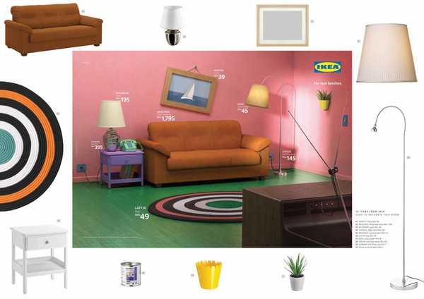 Los salones de tus series favoritas en el catalogo de Ikea. 6