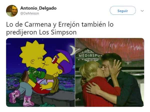 Memes del beso entre Iñigo Errejón y Carmena. 2