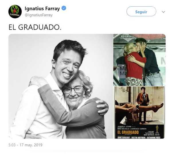 Memes del beso entre Iñigo Errejón y Carmena. 9