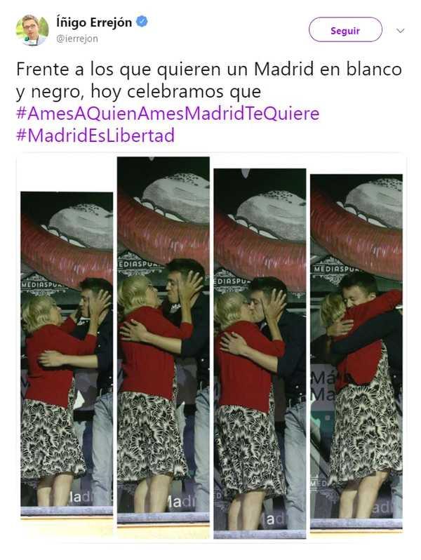 Memes del beso entre Iñigo Errejón y Carmena. 1