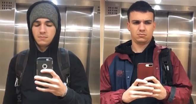 Se graba durante un año, tirándose pedos en el ascensor de su casa. 3