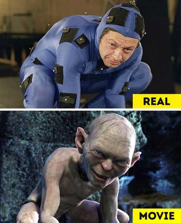 Imágenes de películas antes y después de aplicar los efectos especiales. 14