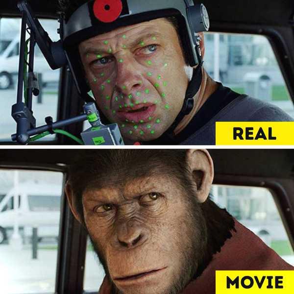 Imágenes de películas antes y después de aplicar los efectos especiales. 16