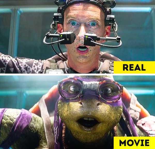 Imágenes de películas antes y después de aplicar los efectos especiales. 17