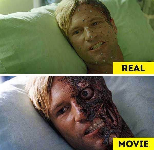 Imágenes de películas antes y después de aplicar los efectos especiales. 3