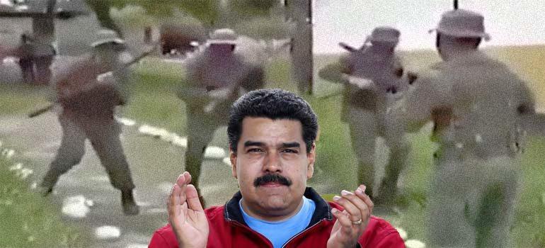 El cómico entrenamiento del ejercito de Venezuela para asustar a los Marines de EE.UU. 3