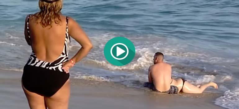 Intenta salir del mar pero es algo imposible. 5
