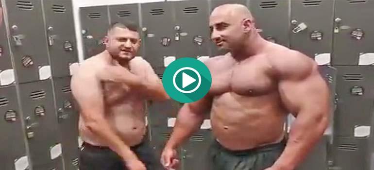 Divertido truco para enfrentarte a un musculado culturista. 1