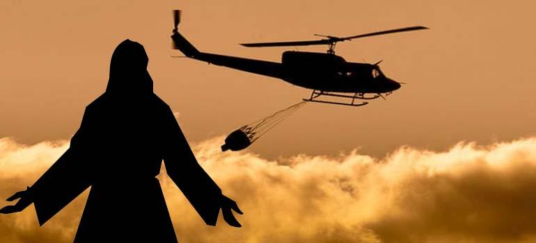 Prensa seria: Van a rociar agua bendita desde un helicóptero a toda una ciudad de Colombia. 1